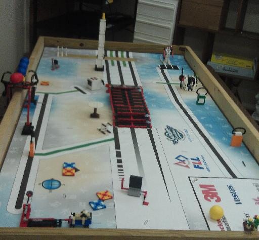 Field setup for FLL Senior Solutions Robot Game